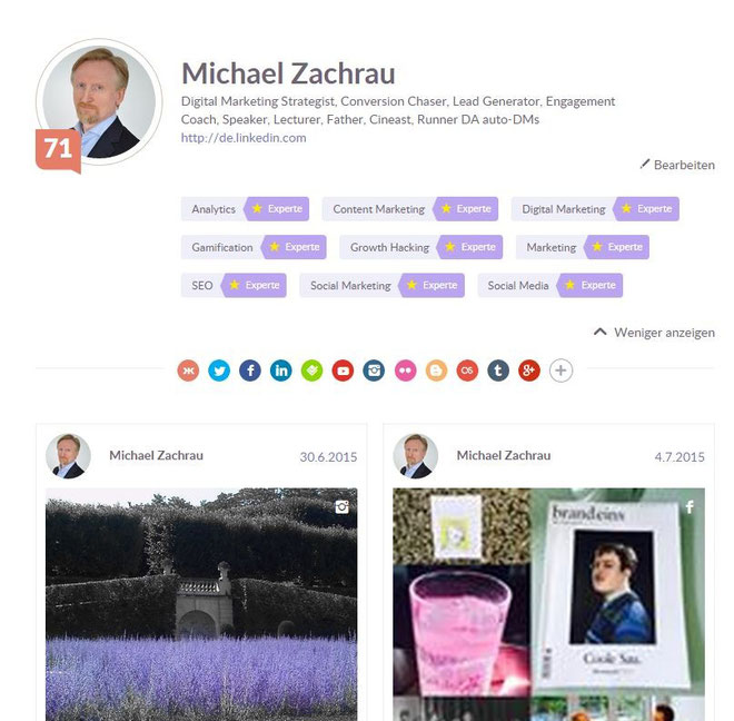Klout Score after optimization